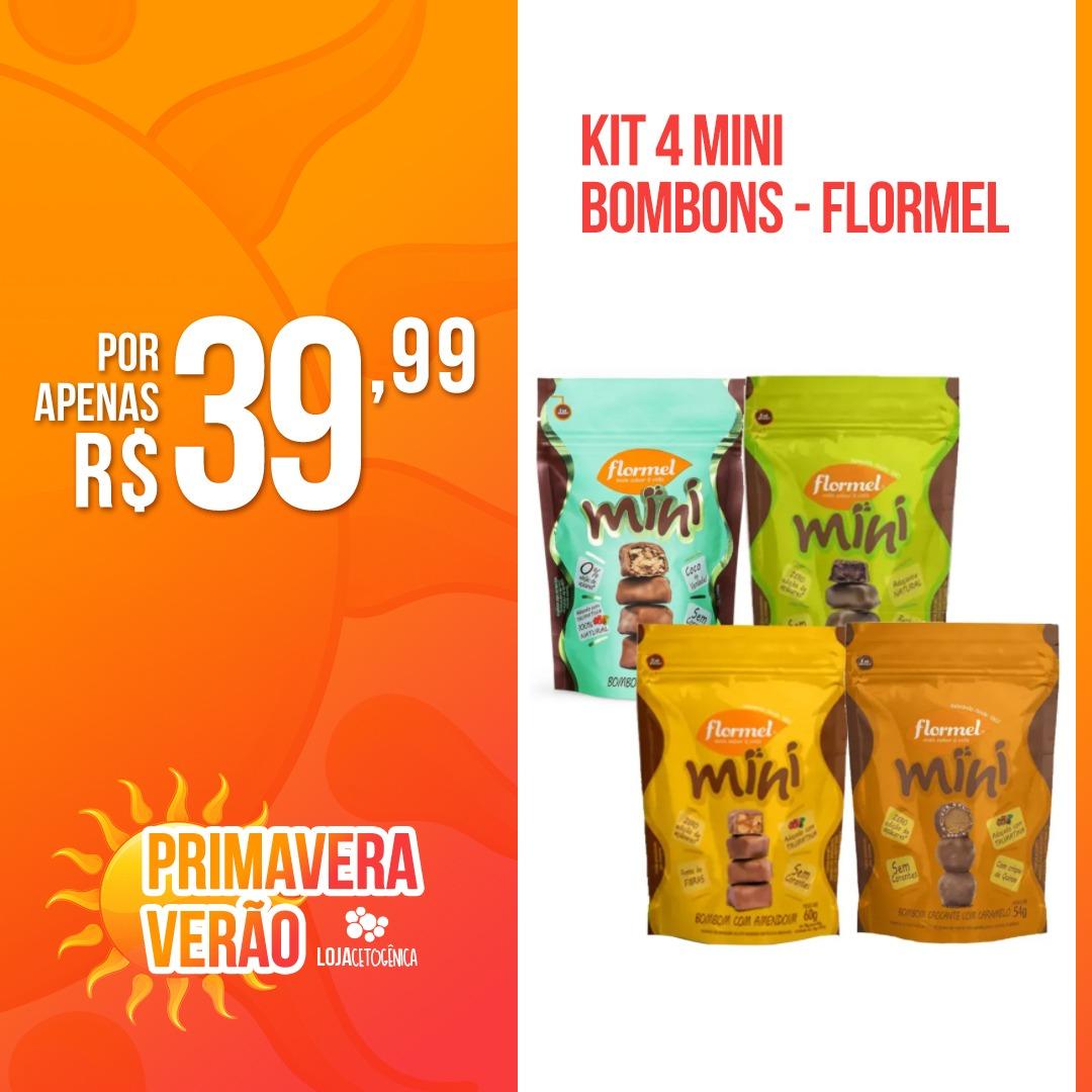 PROMOÇÃO: Kit 4 Mini Bombons - Flormel