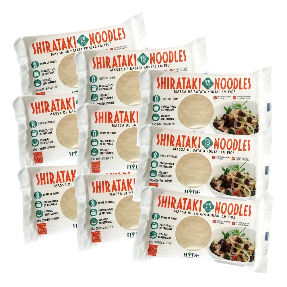 PROMOÇÃO: Kit 7 Macarrões Shirataki Konjac - 200g - Hyde Alimentos
