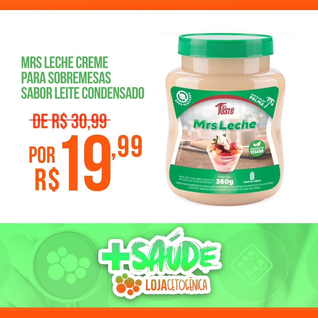 PROMOÇÃO: Mrs Leche Creme Para Sobremesas Sabor Leite Condensado (360g) - Mrs Taste