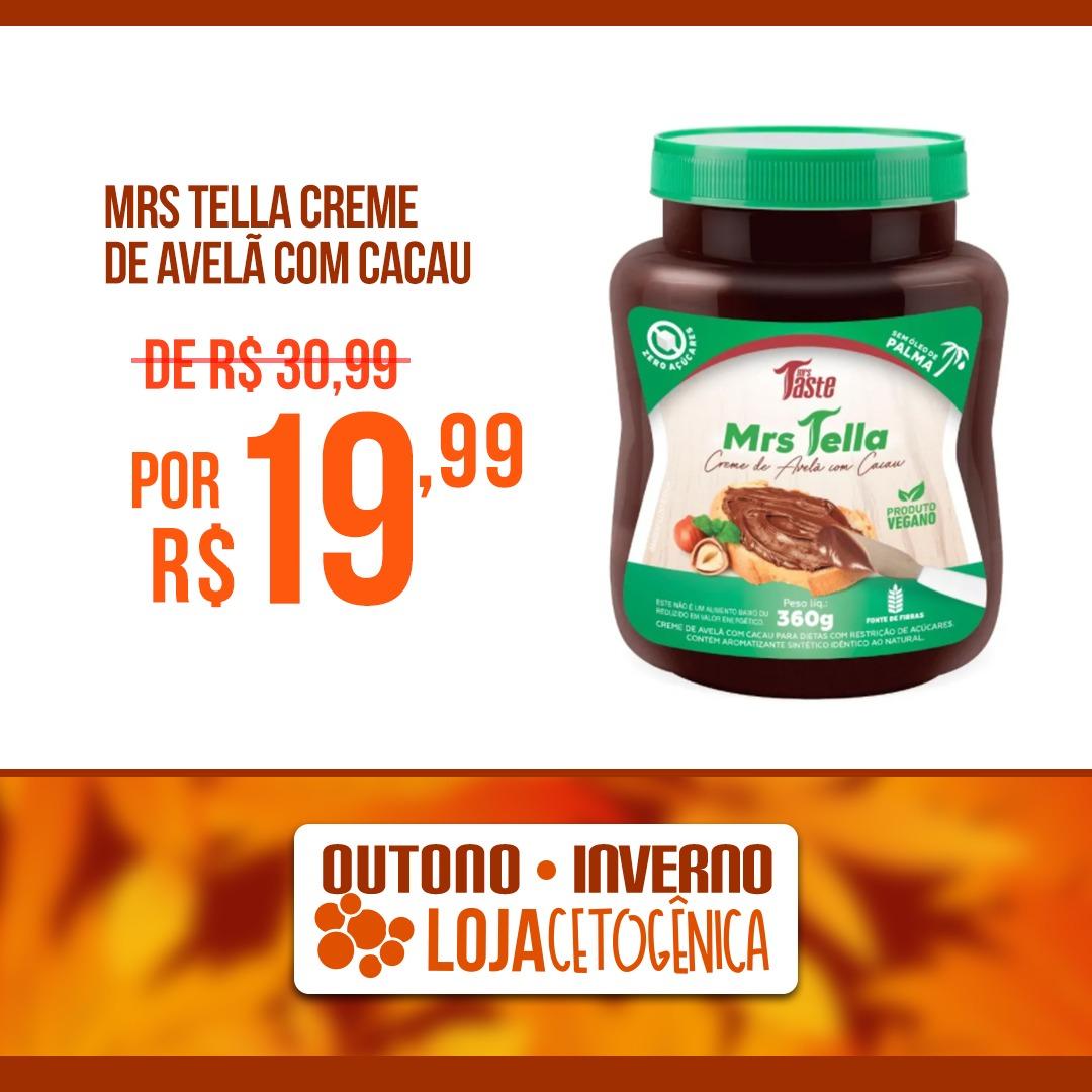 PROMOÇÃO: Mrs Tella Creme de Avelã com Cacau (360g) - Mrs Taste