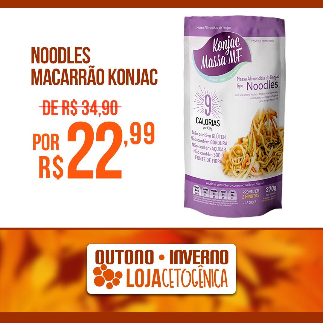 PROMOÇÃO: Noodles Macarrão Konjac Zero Carbo (200g) - Massa MF
