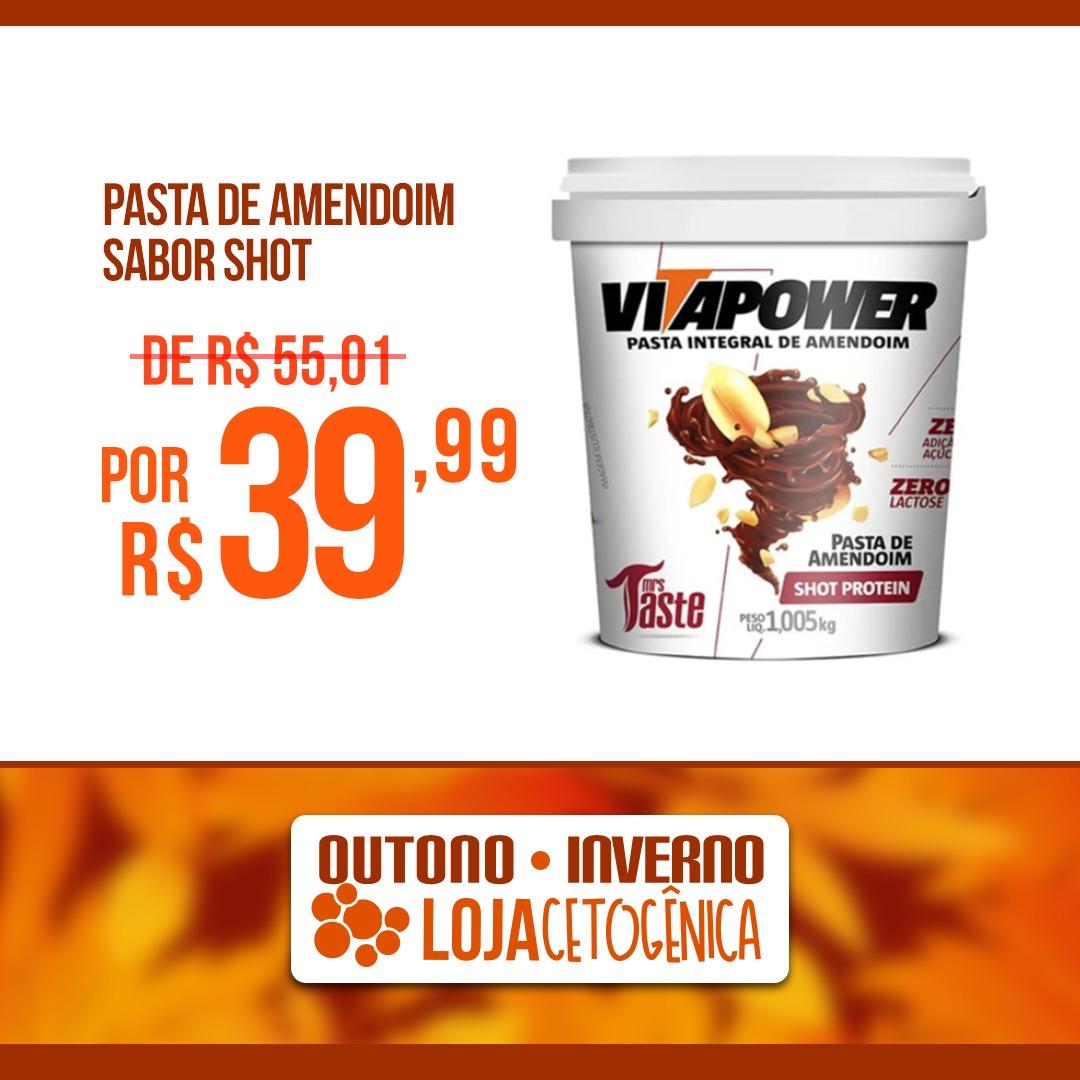 PROMOÇÃO: Pasta de Amendoim Sabor Shot (1,005kg) - VitaPower