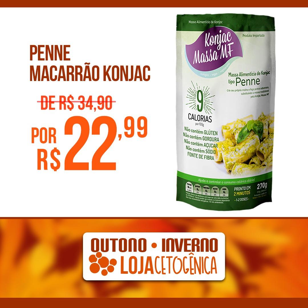 PROMOÇÃO: Penne Macarrão Konjac Zero Carbo (200g) - Massa MF