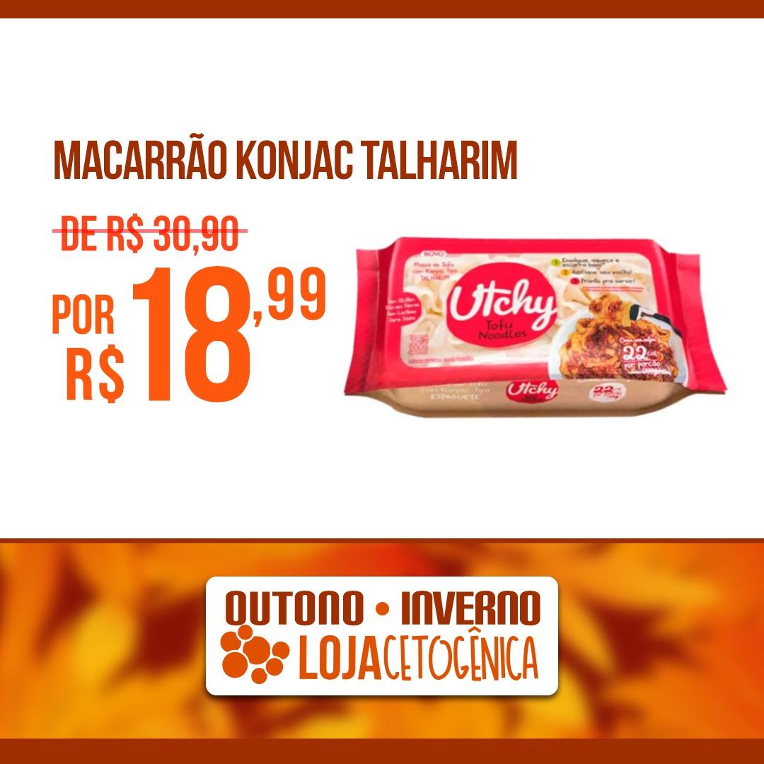 PROMOÇÃO: Talharim Macarrão Utchy Konjac - 200g - Hyde Alimentos