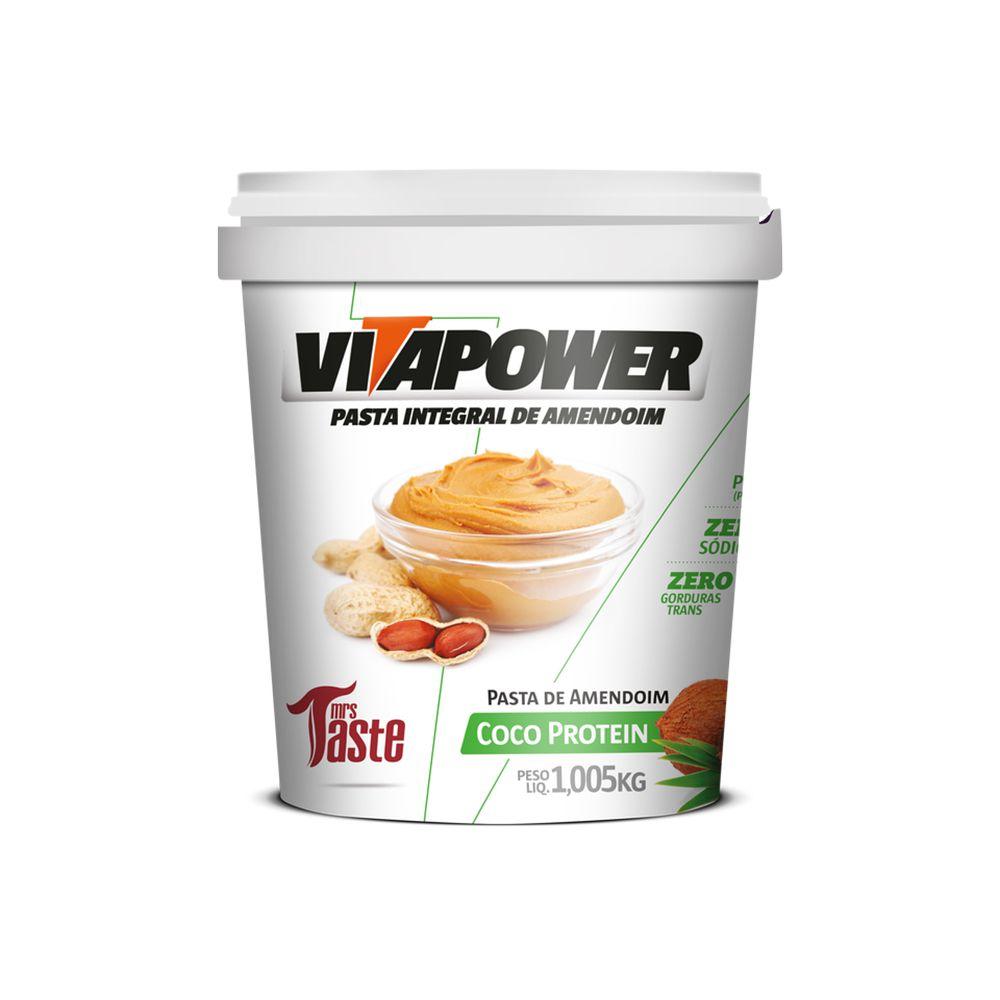 PRÓXIMO AO VENCIMENTO Pasta de Amendoim Coco Protein (1,005kg) - VitaPower