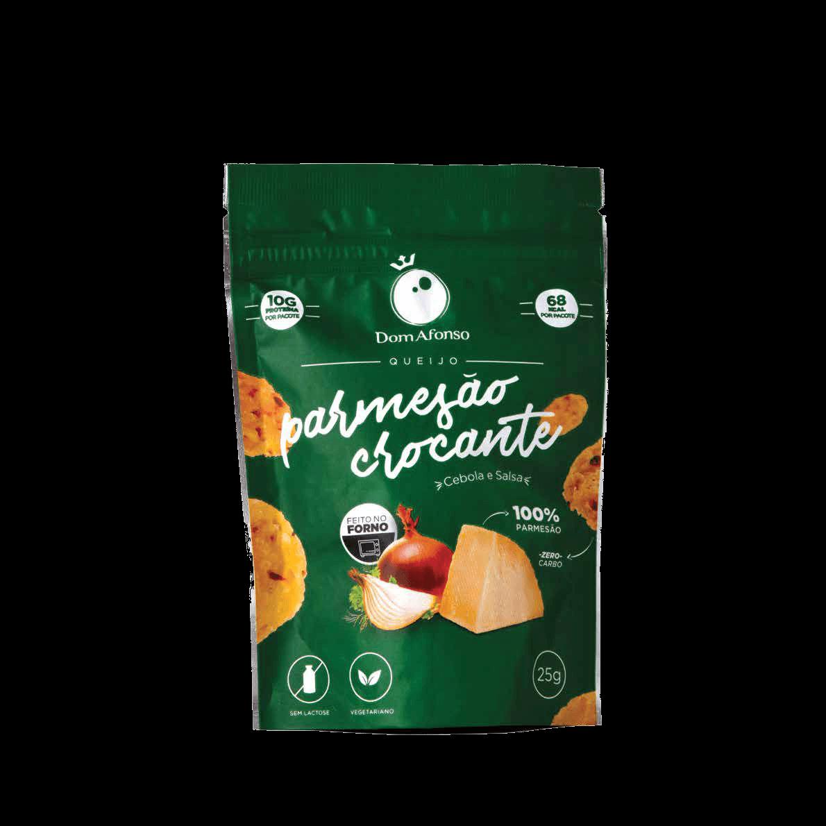 Queijo Cebola e Salsa Crocante Parmesão Dom Afonso - 25g