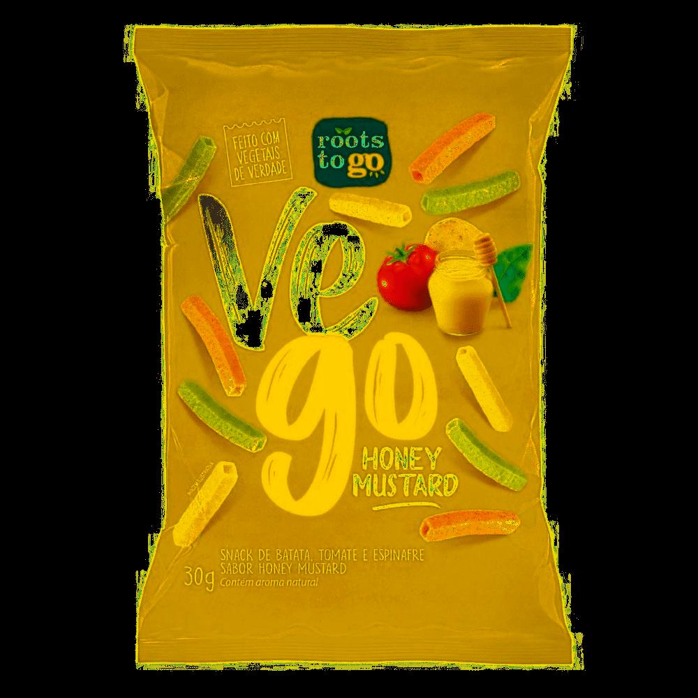 Snack Vego de Batata, Tomate e Espinafre Sabor Honey mustard  (30g) - Roots to go