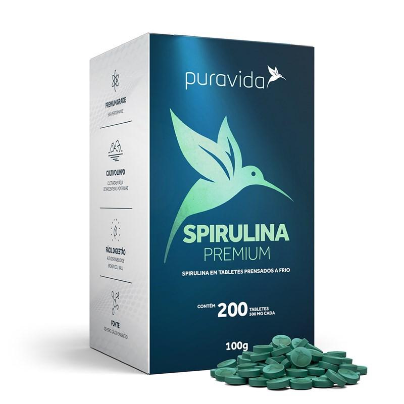 Spirulina Premium em Tabletes (100g) - PuraVida