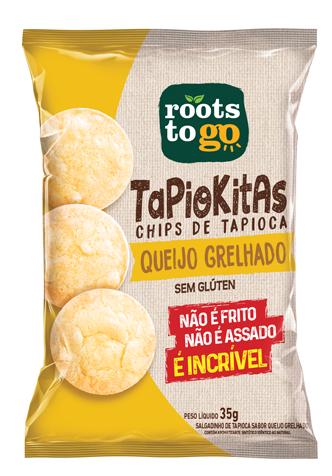 Tapiokitas Sabor Queijo Grelhado - 35g - Roots to go