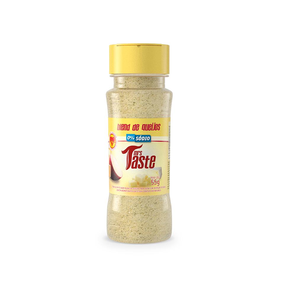 Tempero Zero Sódio Sabor Blend de Queijos (55g) - Mrs Taste