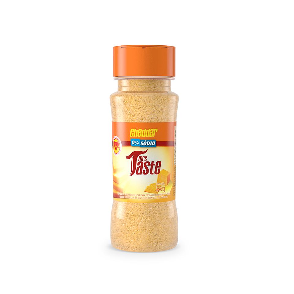Tempero Zero Sódio Sabor Cheddar (55g) - Mrs Taste