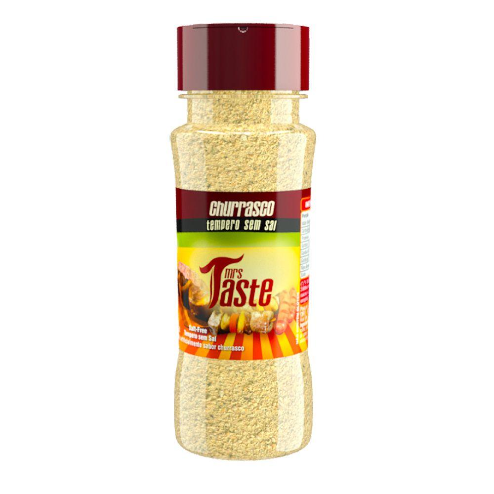 Tempero Zero Sódio Sabor Churrasco - Mrs Taste - 60g