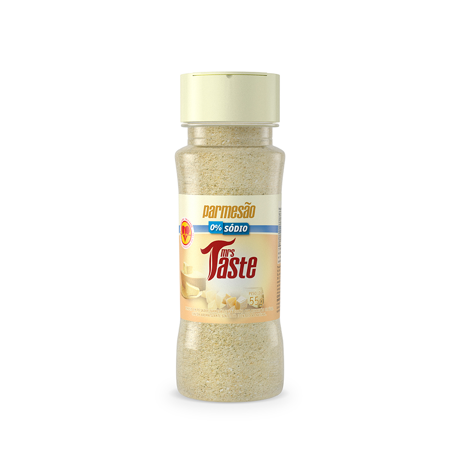 Tempero Zero Sódio Sabor Parmesão (55g) - Mrs Taste