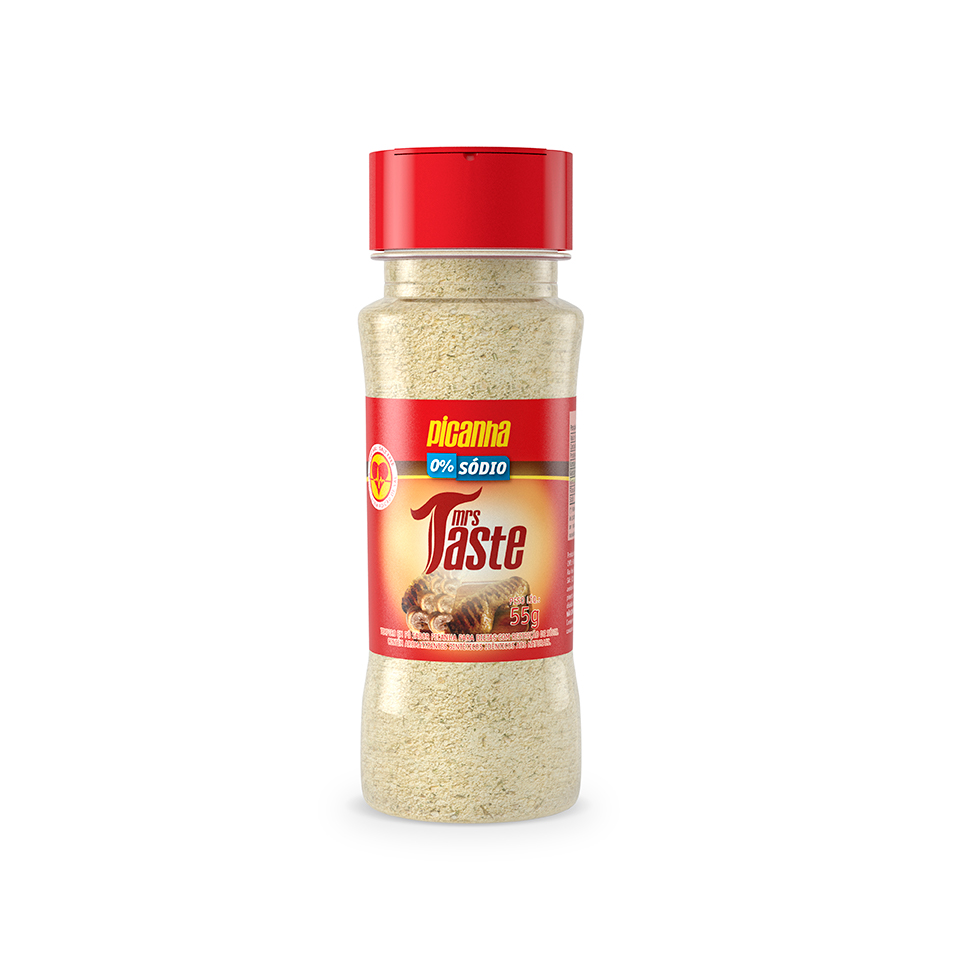 Tempero Zero Sódio Sabor Picanha (55g) - Mrs Taste