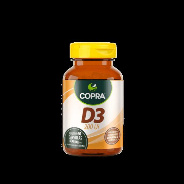Vitamina D3 200Ui (60 cápsulas) - COPRA