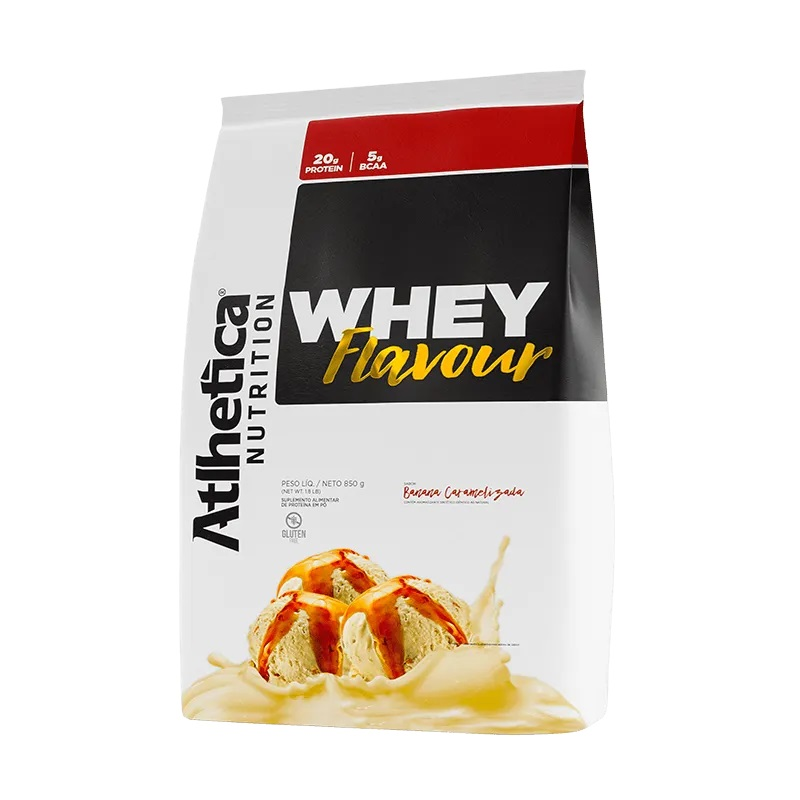 Whey Flavour Banana Caramelizada (850g) - Atlhetica Nutrition