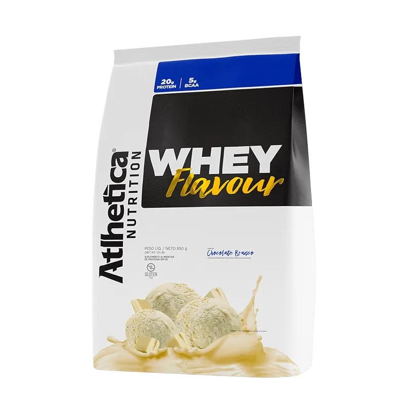 Whey Flavour Chocolate Branco (850g) - Atlhetica Nutrition