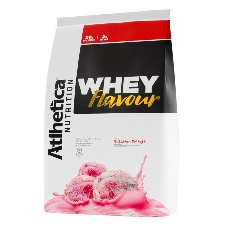 Whey Flavour Milk-Shake de Morango (850g) - Atlhetica Nutrition