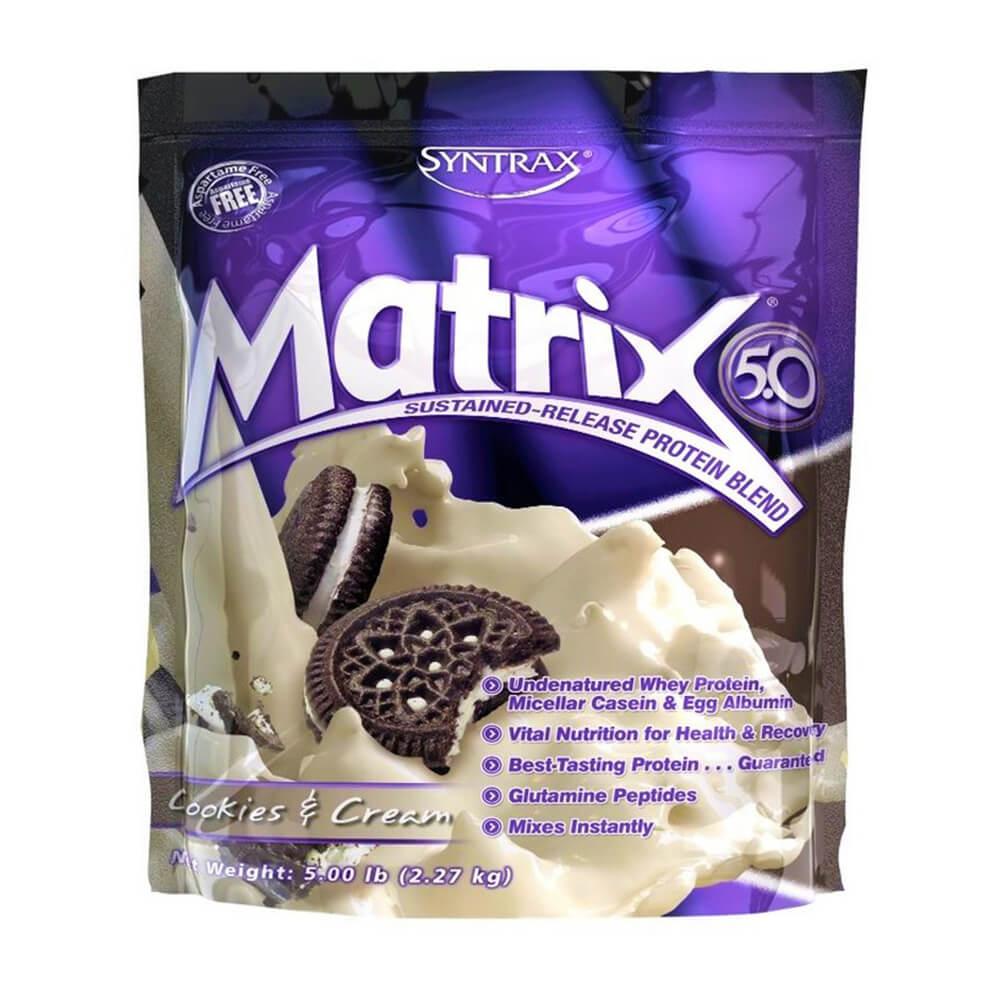 Whey Protein Matrix 5.0 Cookies & Cream (2.270g) - Syntrax