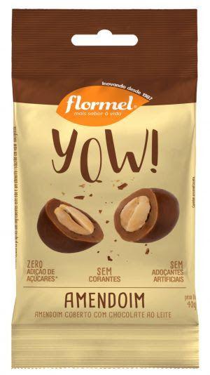 YOW de Amendoim coberto com Chocolate ao Leite (40g) -  Flormel