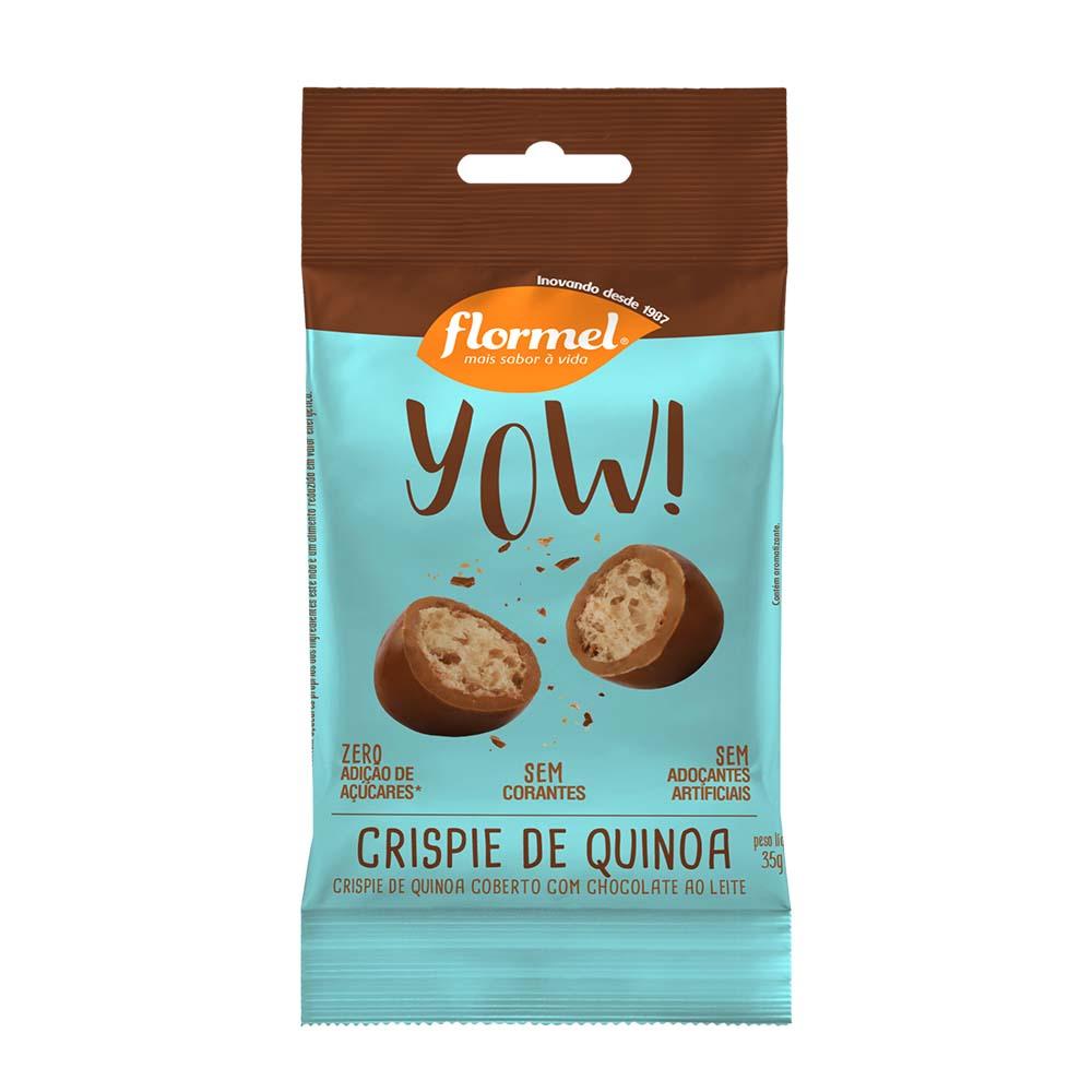 YOW de Crispie de Quinoa Coberto com Chocolate ao Leite (40g) - Flormel