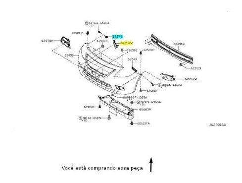 Par Guia Para-choque Dianteiro Nissan Versa 17 2018 Original
