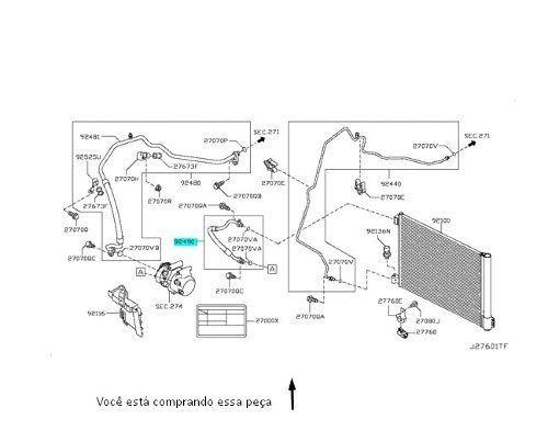 Mangueira Compressor Radiador March 2015 2017 Original