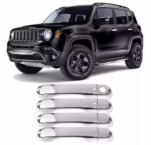 Aplique Maçaneta Cromada Jeep Renegade C/furo Keyless