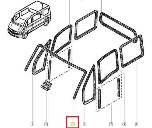 Borracha Parabrisa Renault Master 2003 2005 2010 Original
