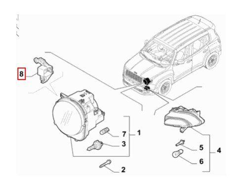 Kit Reparo Farol Direito Jeep Renegade 2015 17 2019 Original