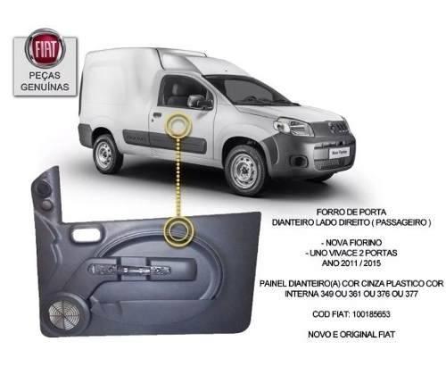 Forro Porta Dianteira Direita Novo Uno Vivace Fiat Original