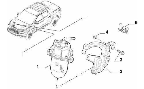 Filtro Combustível Toro Renegade Diesel 2016 2019 Original