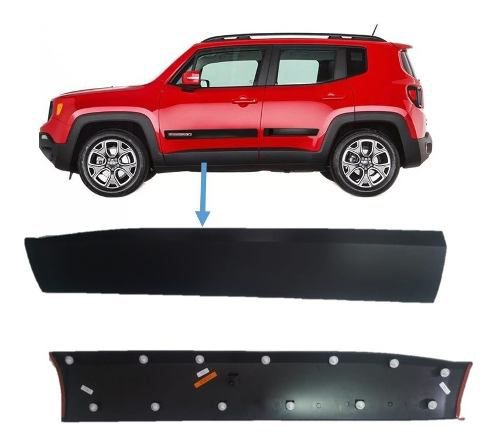 Moldura Lateral Esquerdo Jeep Renegade 2015 18 2019 Original
