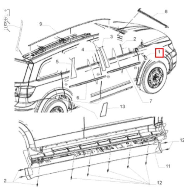 Acabamento Paralama Esquerdo Fiat Freemont Dodge Original