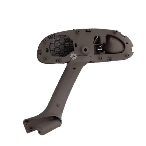 Apoio Puxador Porta Esquerda Cinza Maçaneta Cromada Gol G3