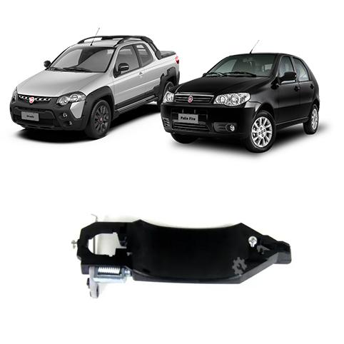 Base Maçaneta Porta Esquerdo Fiat Strada 2004 2020 Original