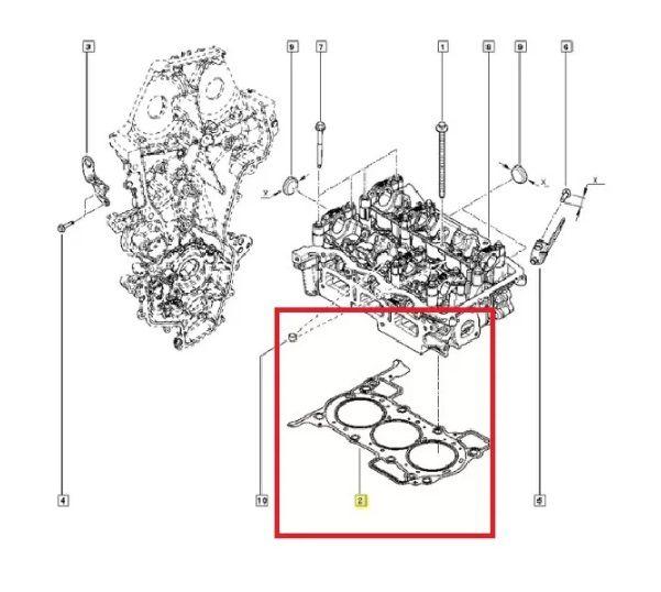 Biela + Junta Cabeçote Renault Kwid 1.0 12V 2017 19 Original