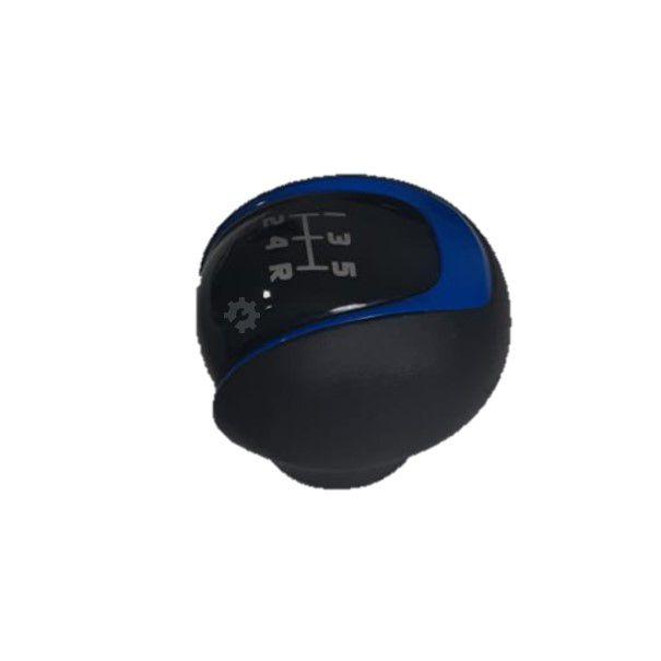Bola Câmbio Manopla Argo Cronos Preta Com Azul 2017 2020