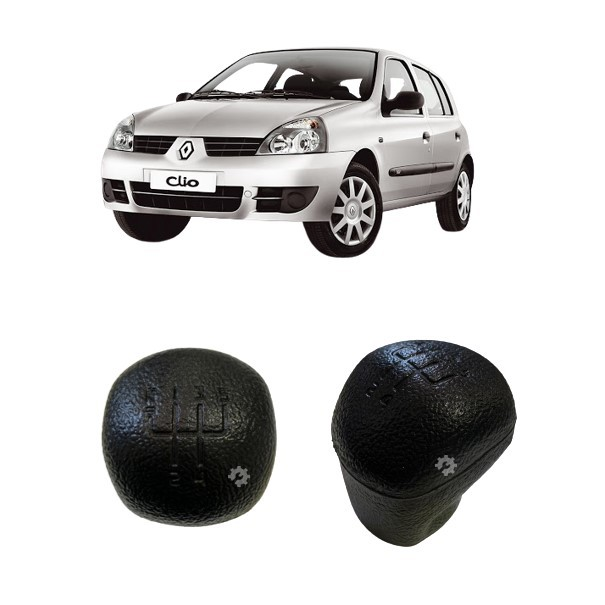 Bola Câmbio Manopla Preta Renault Clio 2000 2005 2006 2008