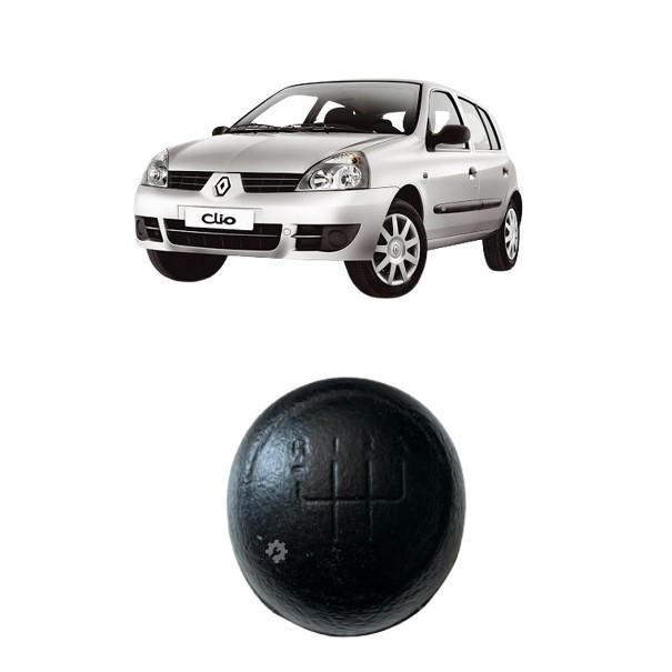 Bola Câmbio Manopla PVC Preta Renault Clio