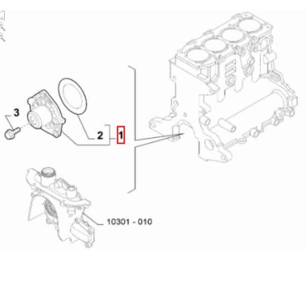 Bomda Dágua Diesel 2.0 16v Toro Renegade Compass Original