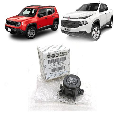 Botao Ignição Start Stop Jeep Compass Toro 2015 2020 Original
