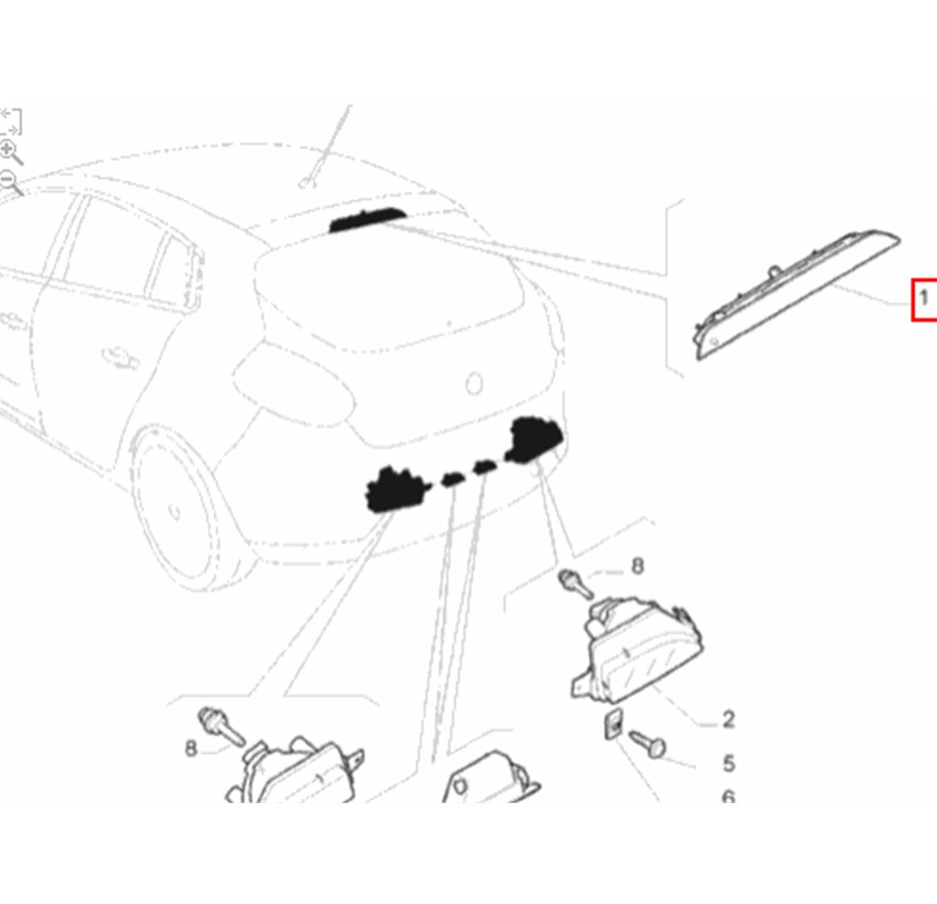 Brake Light Luz Freio Fiat Bravo 2011 até 2016 Original
