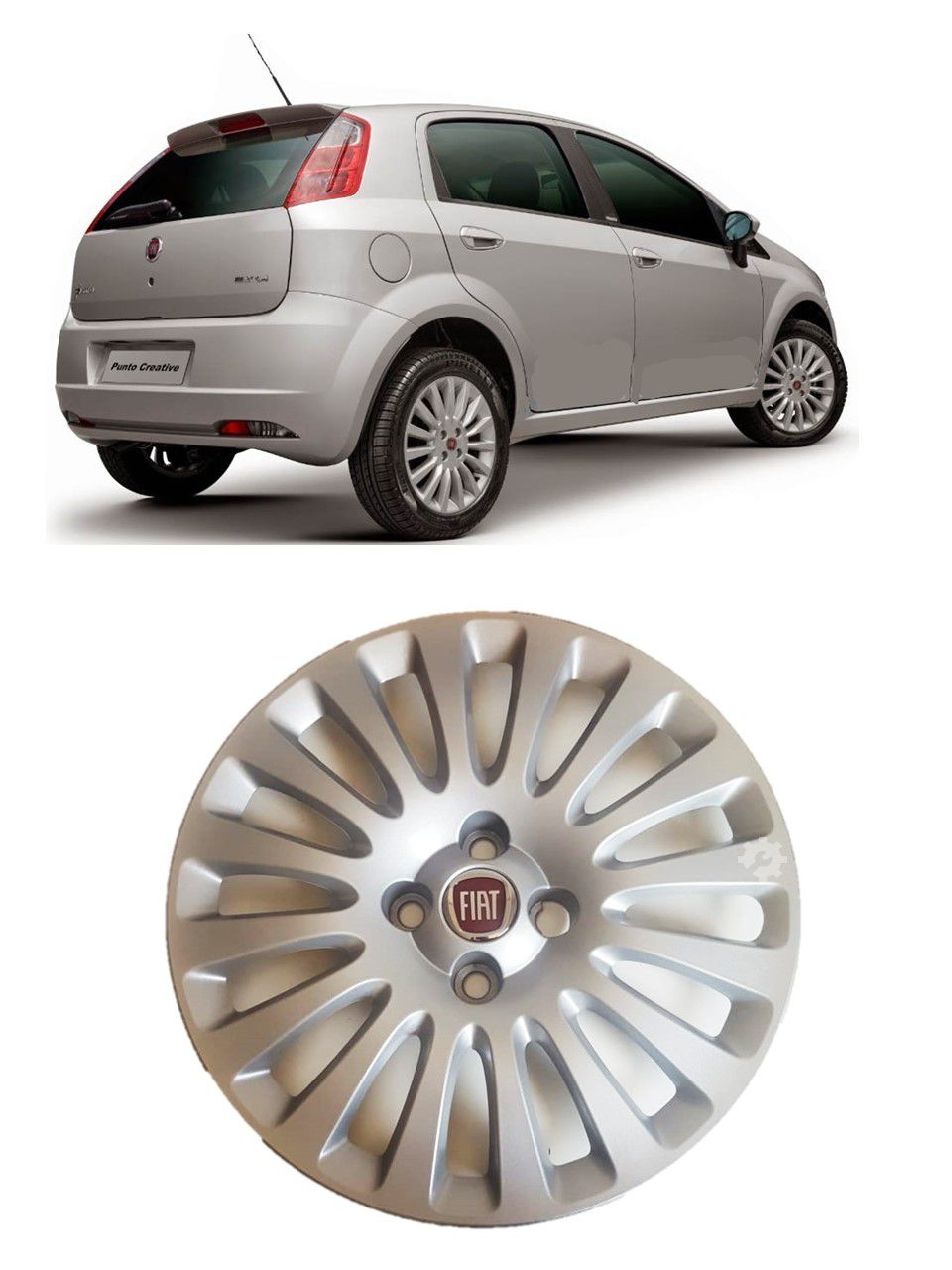 Calota Aro 15 Prata Fiat Punto 2013 2014 2015 2017 Original