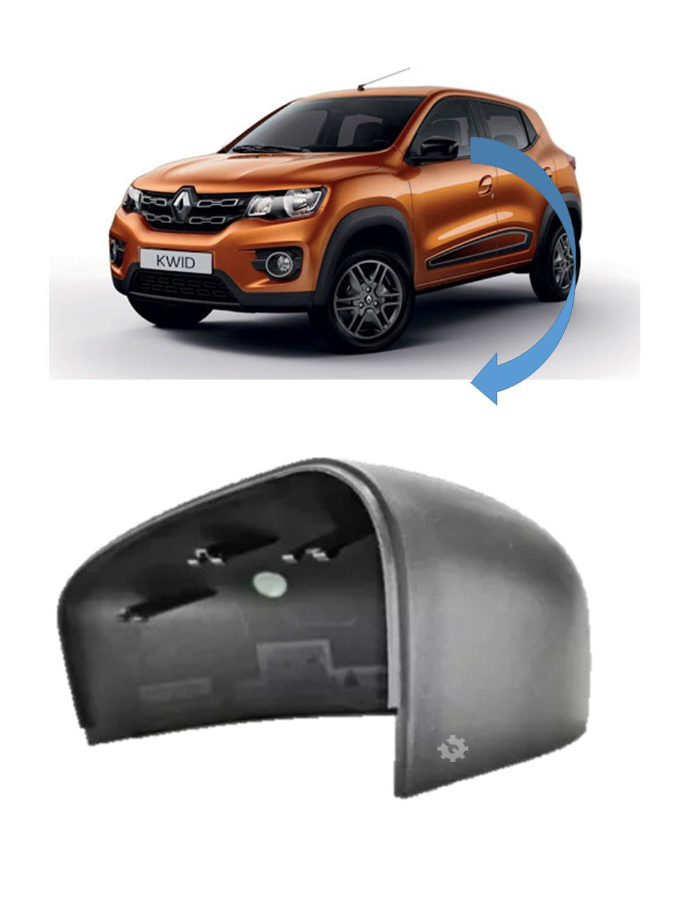 Capa Retrovisor Esquerdo Renault Kwid 2017 2018 Original