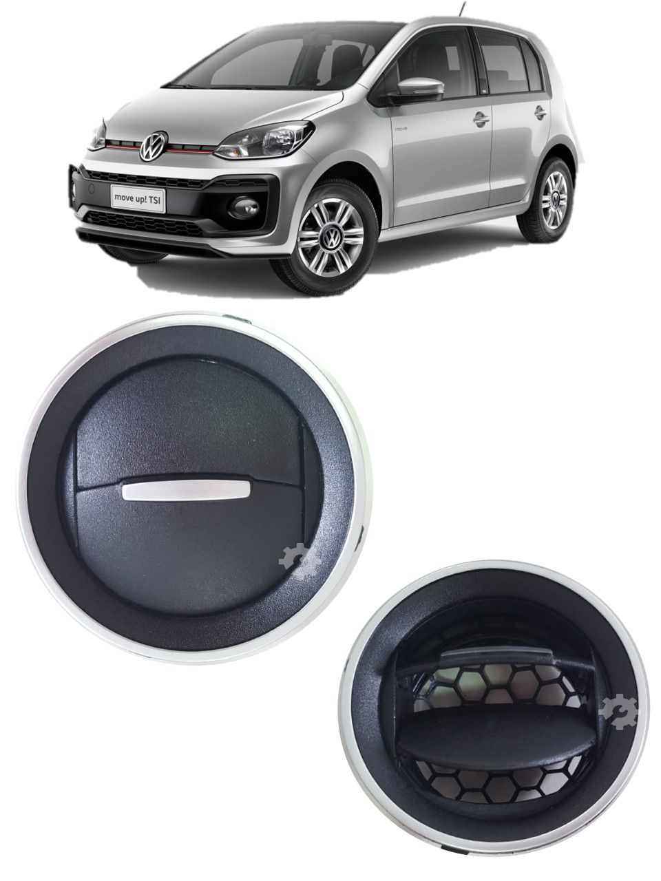 Difusor Ar Branco Volkswagen Up 2014 2015 2017 2019