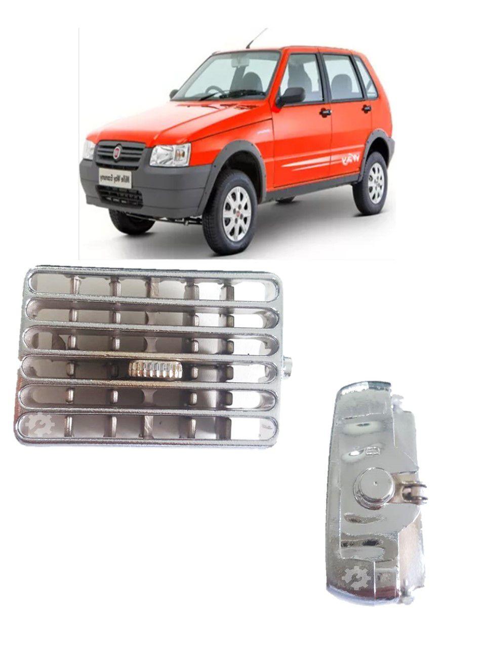 Difusor Ar Lateral Esquerdo Cromado Fiat Uno 1995 2002 2008