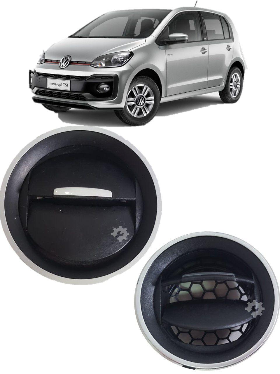 Difusor Ar Prata Volkswagen Up 2014 2015 2017 2019