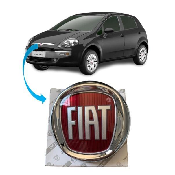 Emblema Dianteiro Grade Central Fiat Punto 2013 2017 Original