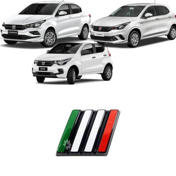 Emblema Grade Itália Fiat Mobi Argo Cronos 2017 2020
